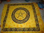 Plaid pentacle celtique